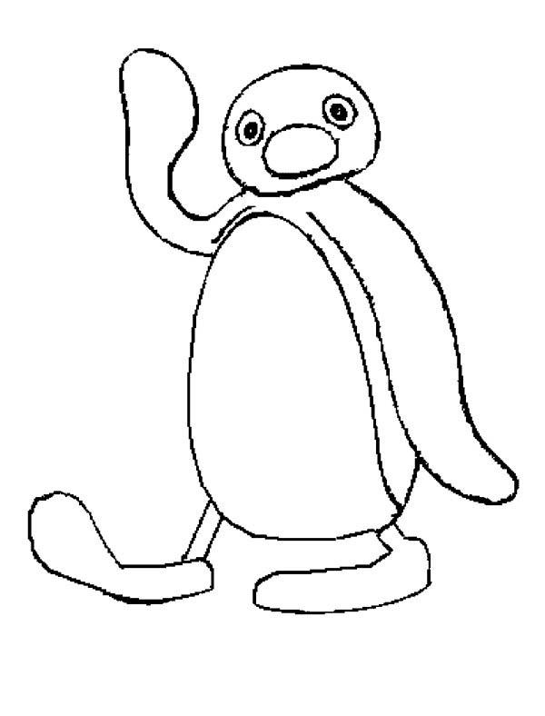 Kids Drawing Of Pingu Coloring Page : Coloring Sky