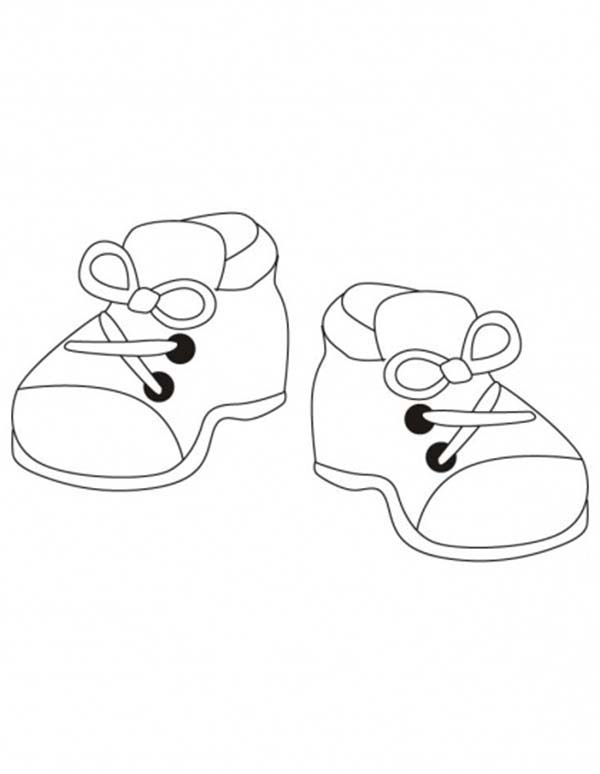 Kindergarten Kids Shoes Coloring Page : Coloring Sky