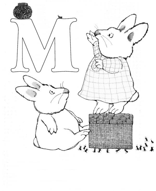 M Is For Max In Max And Ruby Coloring Page : Coloring Sky
