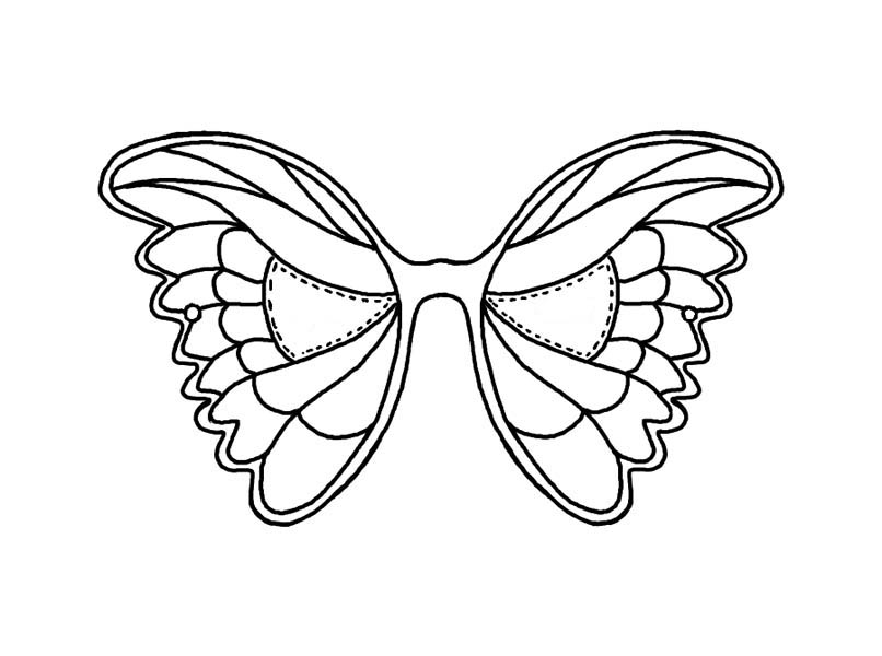 Mask Of Butterfly Coloring Page : Coloring Sky