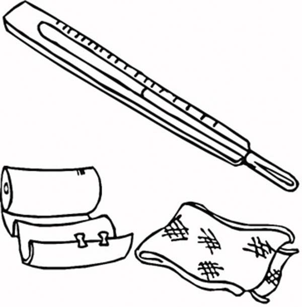 Medical First Aid Package Coloring Page : Coloring Sky