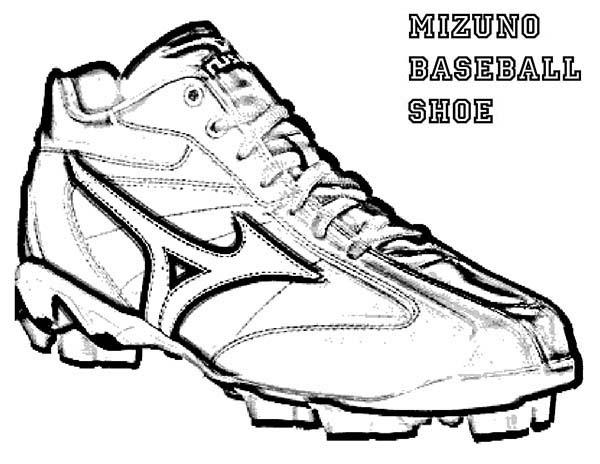 Mizuno Baseball Shoes Coloring Page : Coloring Sky