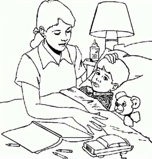 Pages For Girls Who Are Sick Coloring Pages