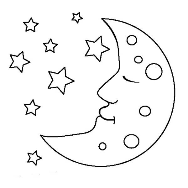moon is sleeping coloring page moon is sleeping coloring