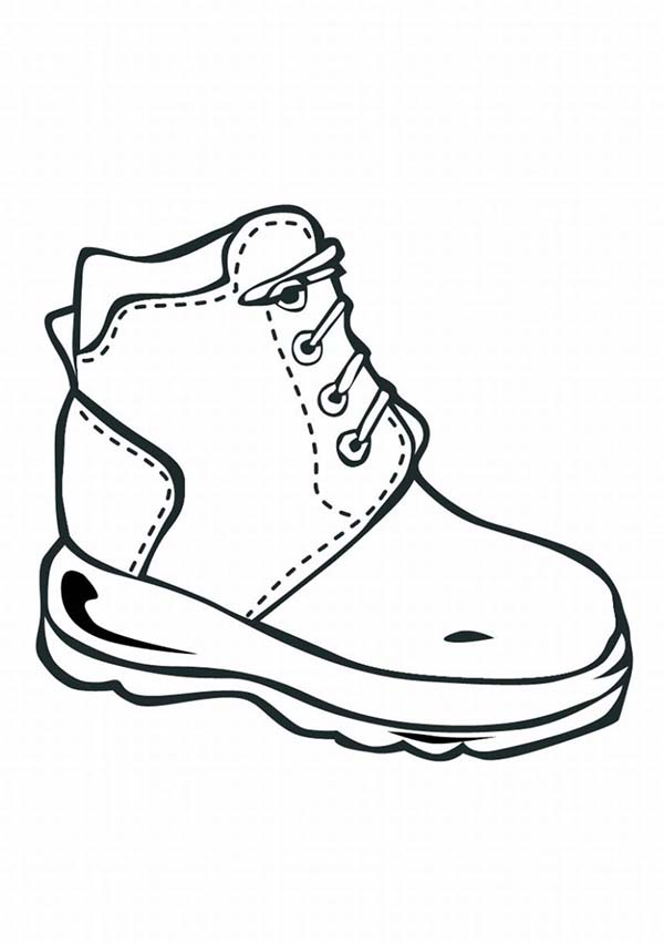 Nike Shoes Coloring Page : Coloring Sky