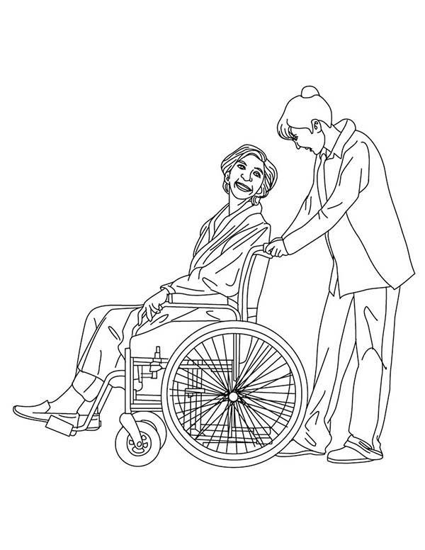 Nurse Medical Job Coloring Page: Nurse Medical Job