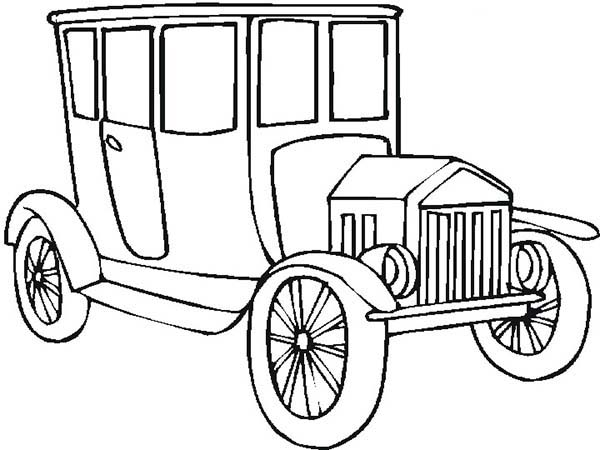Old Car For Classy People Coloring Page : Coloring Sky