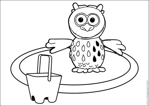 Otus the Owlet Stand on a Circle in Timmy Time Coloring