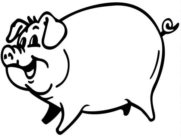 P Is For Pig Coloring Page : Coloring Sky