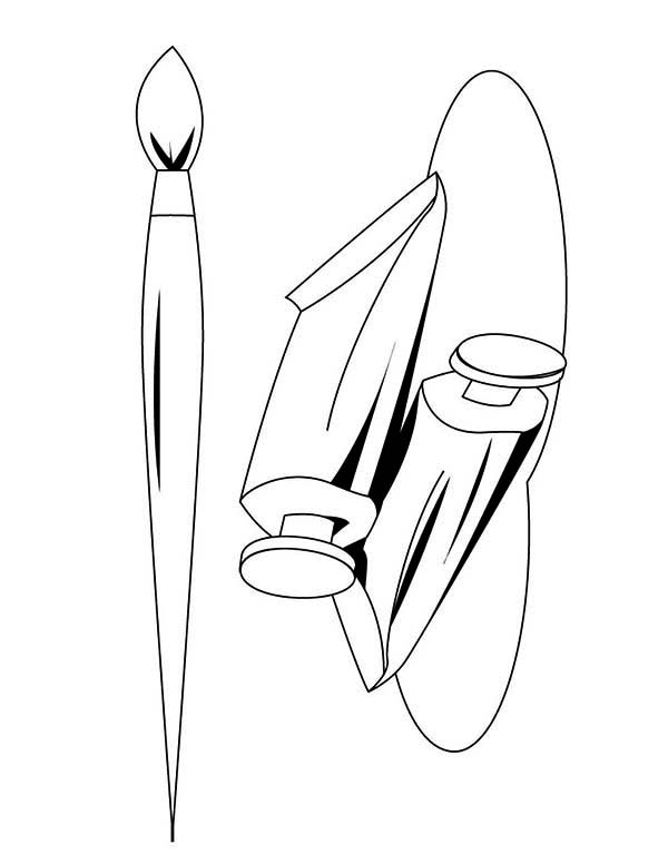 Paint Brush Picture Coloring Page : Coloring Sky
