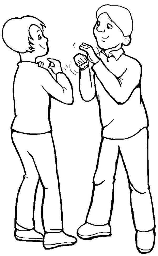 People Talking Coloring Page Coloring Pages