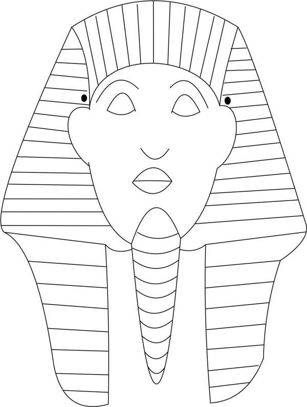 Pharaoh Mask Coloring Page : Coloring Sky