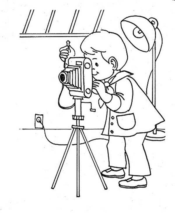 Photography Studio Coloring Page : Coloring Sky