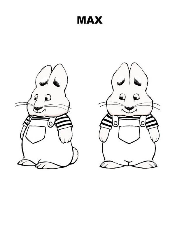 Picture Of Max Bunny In Max And Ruby Coloring Page