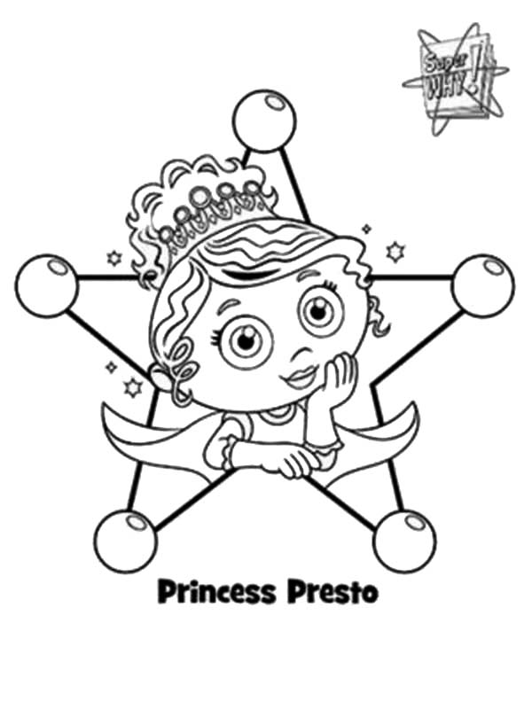 Picture of Princess Presto from Superwhy Coloring Page