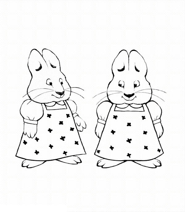 Picture Of Ruby Bunny In Max And Ruby Coloring Page
