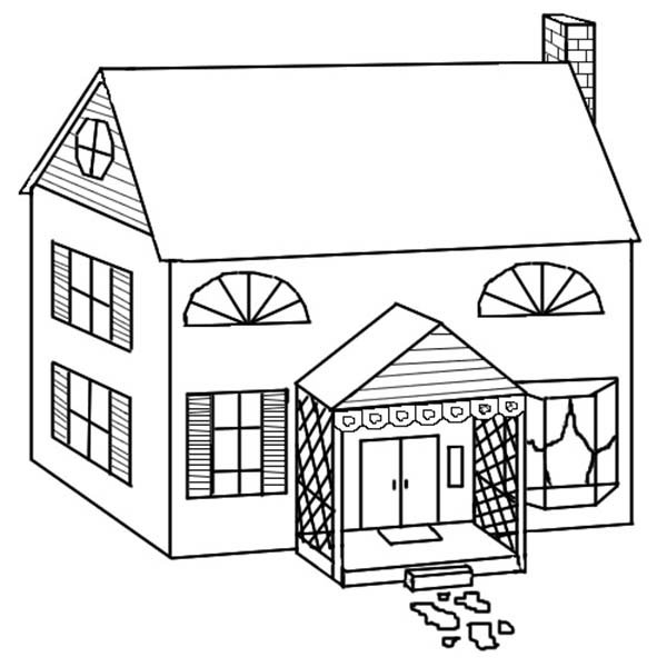 Picture Of School House Coloring Page : Coloring Sky