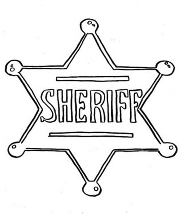 Picture Of Sheriff Badge Coloring Page : Coloring Sky