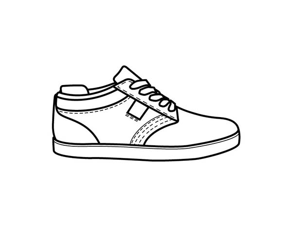 Picture Of Shoes Coloring Page : Coloring Sky