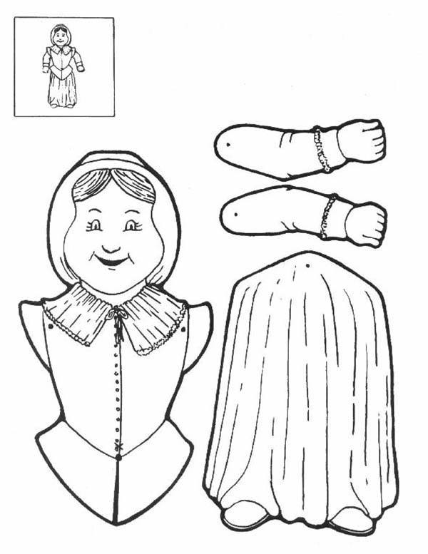Pilgrimwoman Puppet Part Coloring Page : Coloring Sky