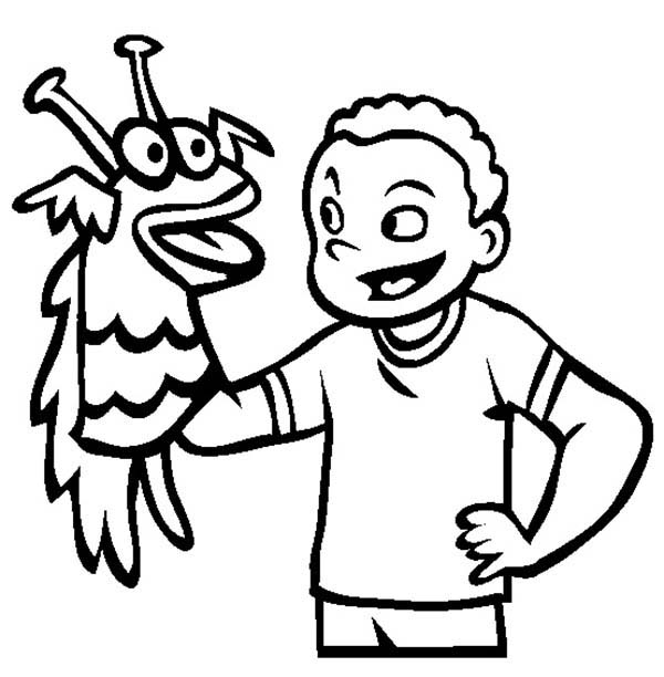 Puppet Coloring Page Home Sketch Coloring Page