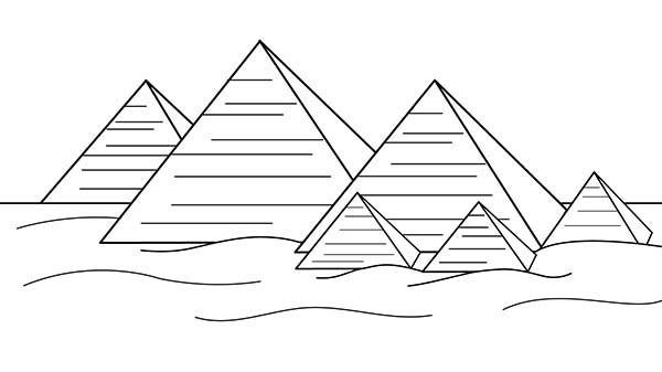Pyramid Coloring Page For Kids : Coloring Sky