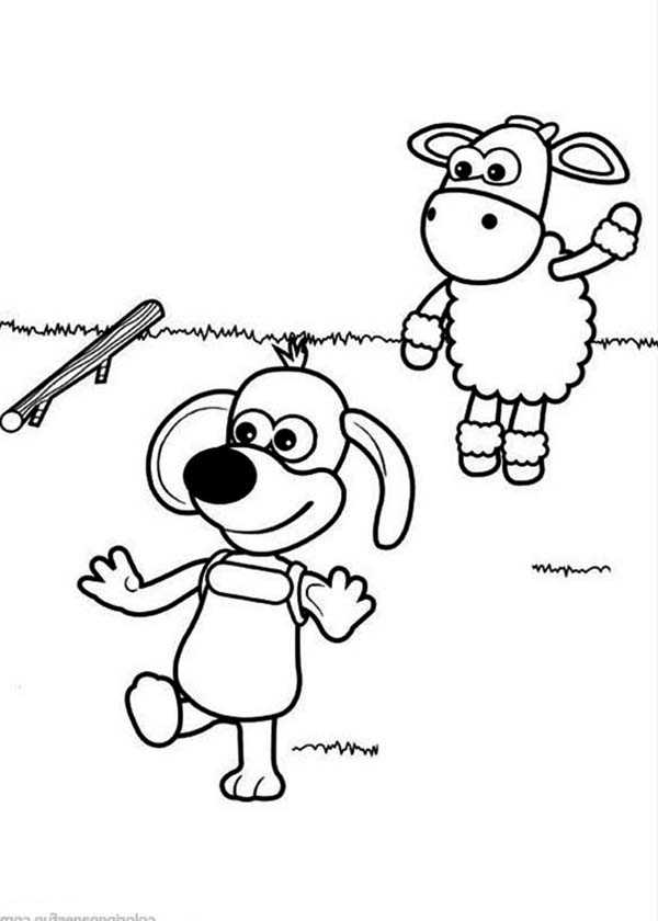 Ruffy the Puppy Chase Wooden Stick Throw by Timmy in Timmy