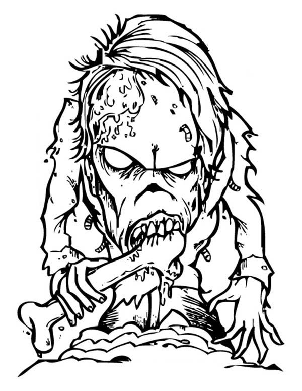 scary bone eater monster coloring page  coloring sky