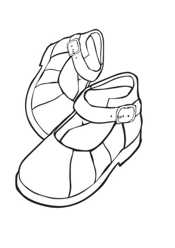 Shoes For Kids Coloring Page : Coloring Sky