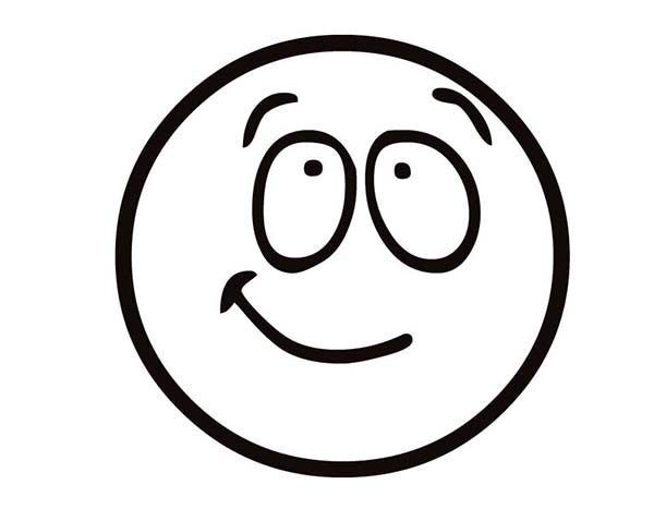 Silly Face Coloring Page For Kids : Coloring Sky