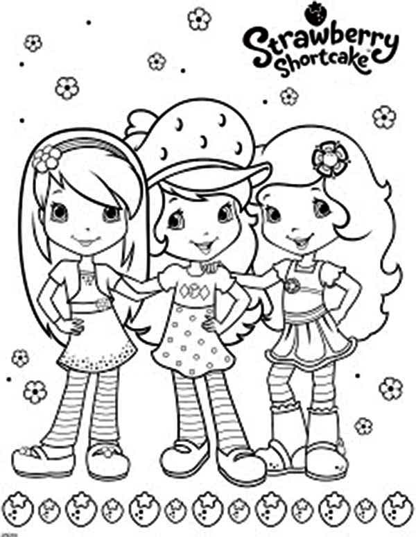 Strawberry Shortcake And Friends Coloring Page