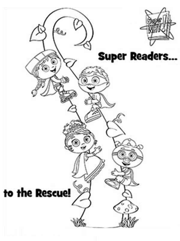 Superwhy Characters In Jack And The Beanstalk Coloring