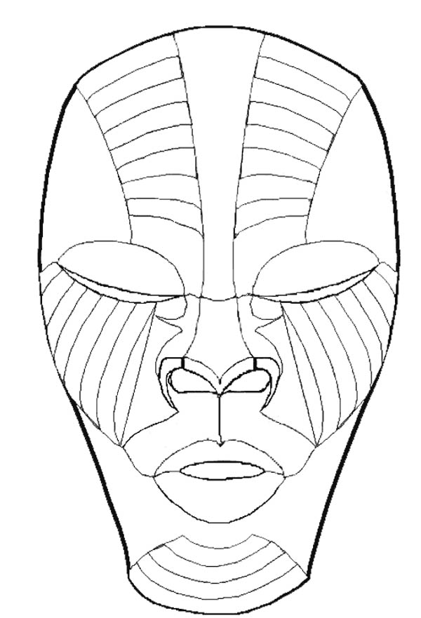 Terrying Mask Coloring Page : Coloring Sky