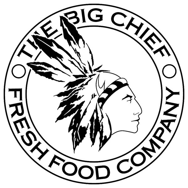 The Big Chief Fresh Food Company Badge Coloring Page