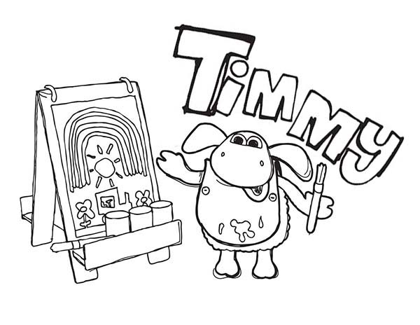 Timmy Learn To Paint In Timmy Time Coloring Page