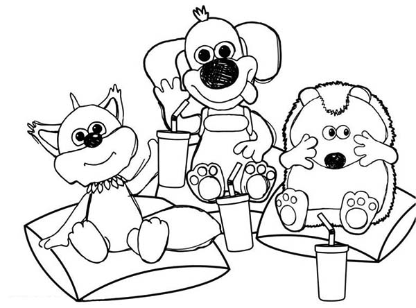 Timmy Time All Friends Drink Together Coloring Page: Timmy