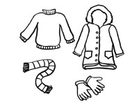 Always Stay Warm in Winter Season Coloring Page: Always ...