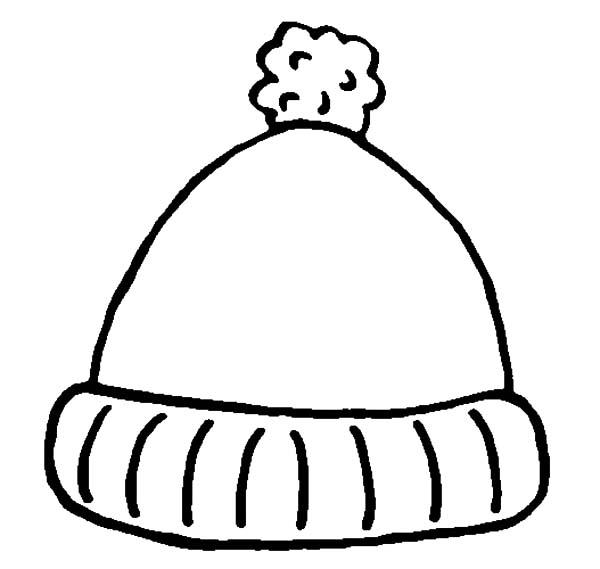 Lovely Hat For Winter Season In Winter Season Coloring