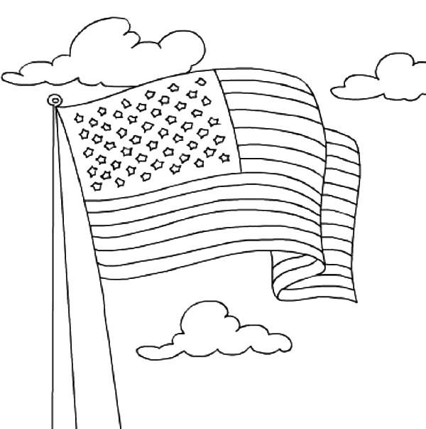 United States Flag Waving On Independence Day Celebration
