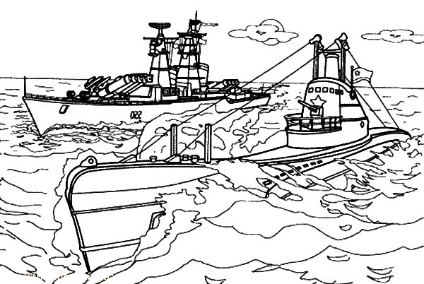 Aircraft Carrier Coloring Pages