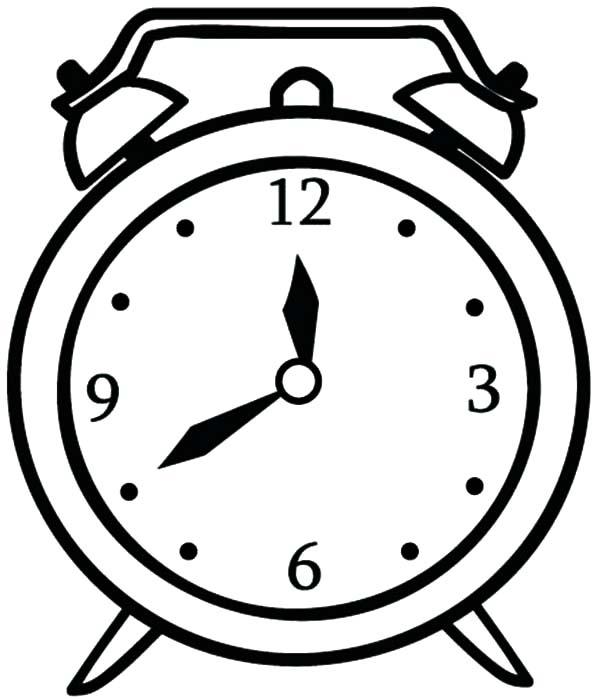 Alarm Clock Coloring Pages For Kids : Coloring Sky