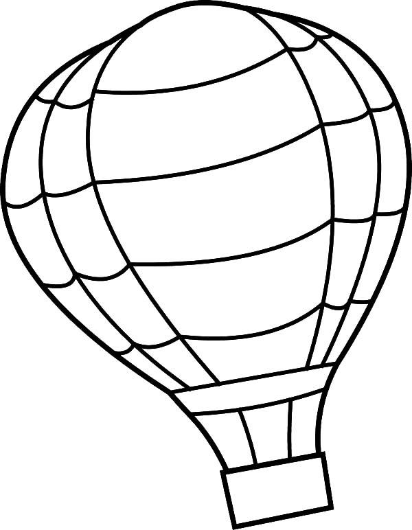 hot air balloon - free coloring
