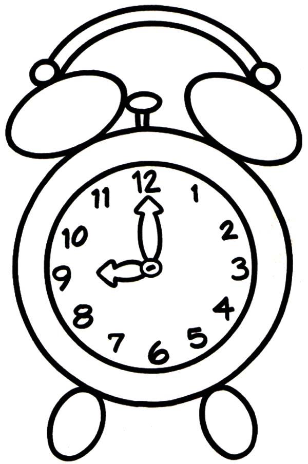 Cartoon Alarm Clock Coloring Pages Get Sketch Coloring Page