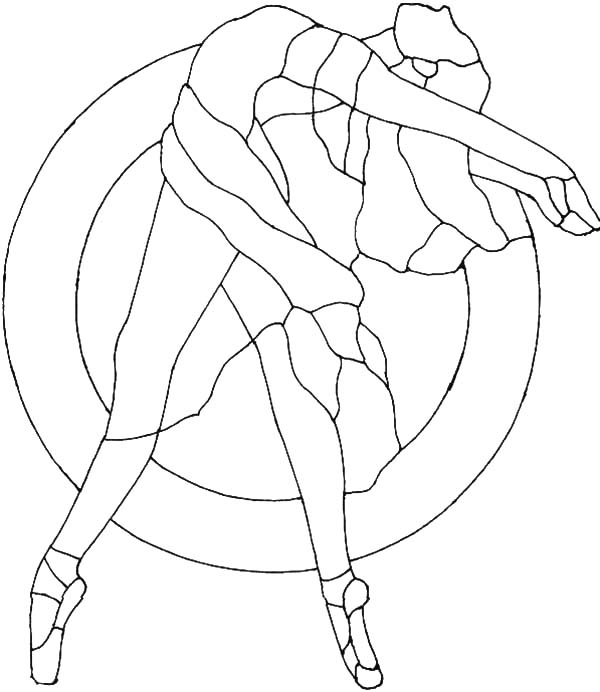 Ballerina Girl Outline Coloring Pages Coloring Sky