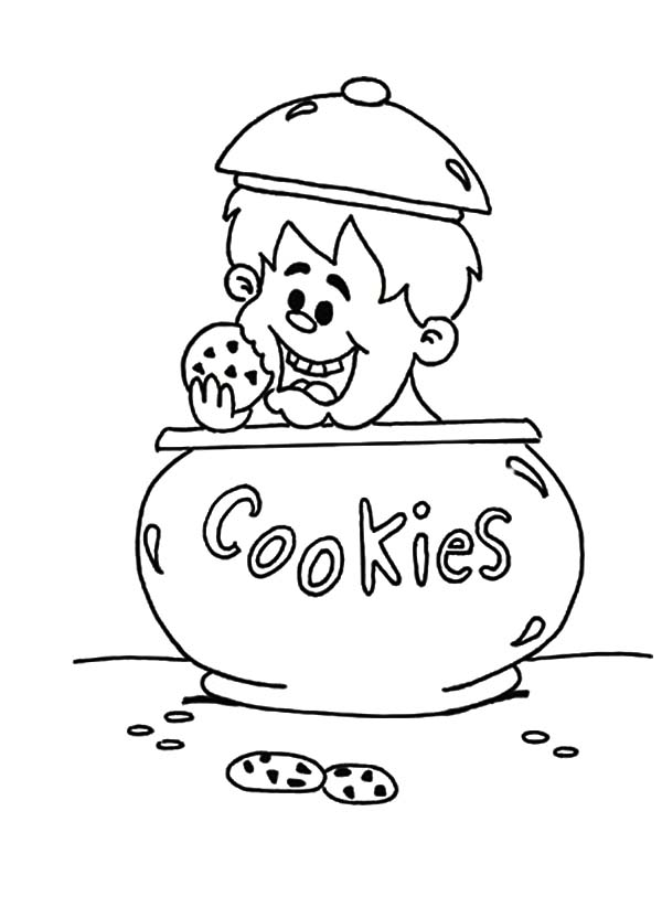 Cookie Jar Coloring Page Coloring Pages