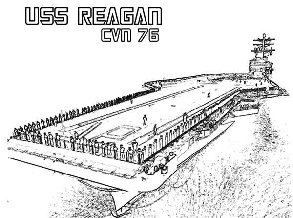 CVN 68 Nimitz Aircraft Carrier Ship Coloring Pages