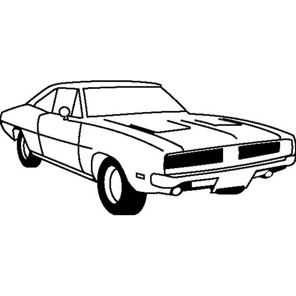 Dodge Challenger 2018 coloring page | Free Printable Coloring Pages | 600x600