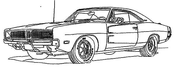 Dodge Car Longhorn Truck Coloring Pages: Dodge Car
