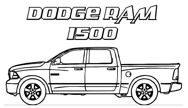 Dodge Car Ram 1500 Trucks Coloring Pages : Coloring Sky