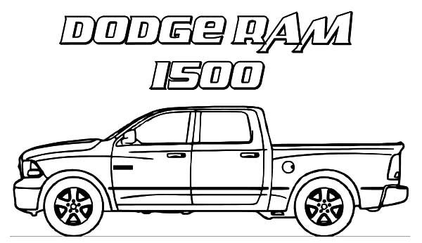 Dodge Car Ram 1500 Trucks Coloring Pages: Dodge Car Ram